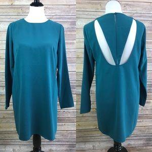 Kimchi Blue Teal Blue Cutout Mini Shift Dress